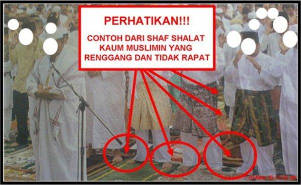 shaf shalat renggang